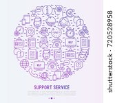 support service concept in... | Shutterstock .eps vector #720528958