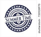 blue summer time distress... | Shutterstock .eps vector #720528970