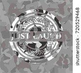 just laugh grey camo emblem   Shutterstock .eps vector #720529468