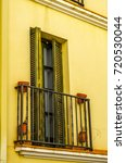 stylish balcony with a metal... | Shutterstock . vector #720530044