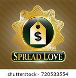 gold shiny badge with money...   Shutterstock .eps vector #720533554