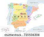 spain political map. political... | Shutterstock .eps vector #720536308