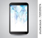 black modern gadget with blue...   Shutterstock .eps vector #720539074