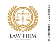 Law Firm Logo With Laurel...