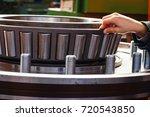 huge wheel bearing of dumper... | Shutterstock . vector #720543850