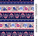 seamless pattern with ethnic... | Shutterstock .eps vector #720544309