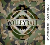 volleyball camouflage emblem | Shutterstock .eps vector #720544870