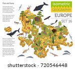 isometric 3d european flora and ... | Shutterstock .eps vector #720546448