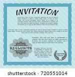 light blue formal invitation....   Shutterstock .eps vector #720551014