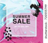 summer sale banner. square.... | Shutterstock .eps vector #720555799
