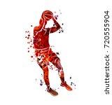 vector watercolor silhouette... | Shutterstock .eps vector #720555904