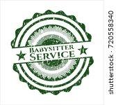 green babysitter service rubber ... | Shutterstock .eps vector #720558340