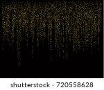 christmas sparkles  gold ... | Shutterstock .eps vector #720558628