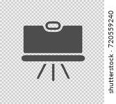 blackboard vector icon eps 10.... | Shutterstock .eps vector #720559240
