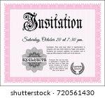 pink retro invitation template. ...   Shutterstock .eps vector #720561430