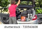 traveling for summer vacation   ...   Shutterstock . vector #720563608