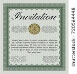green formal invitation...   Shutterstock .eps vector #720564448