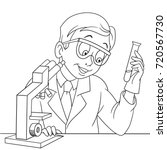coloring page of chemical... | Shutterstock .eps vector #720567730