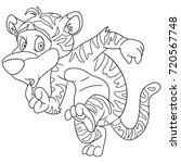 coloring page of wild tiger.... | Shutterstock .eps vector #720567748
