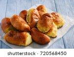 homemade bread buns  russian... | Shutterstock . vector #720568450