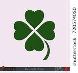 four leaf clover  symbol of... | Shutterstock .eps vector #720574030