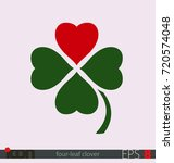 four leaf clover with a heart...   Shutterstock .eps vector #720574048