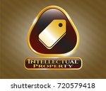 golden emblem or badge with... | Shutterstock .eps vector #720579418