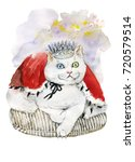 King White Cat With Different...