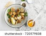 homemade chicken meatballs with ... | Shutterstock . vector #720579838