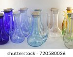 shelf with glass vessels in a... | Shutterstock . vector #720580036