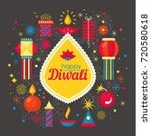 diwali hindu festival banner... | Shutterstock .eps vector #720580618