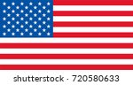 vector usa flag flagpoles ... | Shutterstock .eps vector #720580633