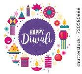 diwali hindu festival banner... | Shutterstock .eps vector #720580666