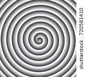 shaded gray scale spiral vector ... | Shutterstock .eps vector #720581410