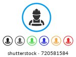 worker rounded icon. style is a ... | Shutterstock .eps vector #720581584