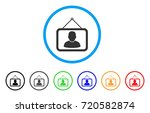 man portrait rounded icon.... | Shutterstock .eps vector #720582874