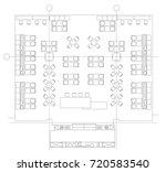 standard furniture symbols used ... | Shutterstock .eps vector #720583540