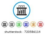 analysis test tubes rounded... | Shutterstock .eps vector #720586114