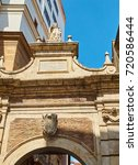 la porta nova gate in piazza... | Shutterstock . vector #720586444