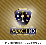 shiny emblem with business... | Shutterstock .eps vector #720589630
