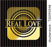 real love gold badge   Shutterstock .eps vector #720593548