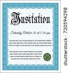 light blue formal invitation....   Shutterstock .eps vector #720594298