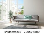 idea of white room with sofa... | Shutterstock . vector #720594880