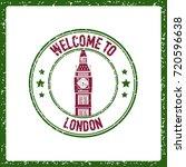 grunge vector stamp of london... | Shutterstock .eps vector #720596638