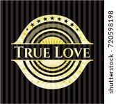 true love gold emblem   Shutterstock .eps vector #720598198