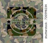 make love not war camouflaged...   Shutterstock .eps vector #720598234