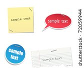 vector sticker for your sample... | Shutterstock .eps vector #72059944