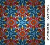 simple cute pattern in small...   Shutterstock .eps vector #720599548