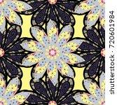 vector seamless floral pattern...   Shutterstock .eps vector #720601984