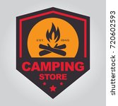 vintage camping and outdoor... | Shutterstock .eps vector #720602593